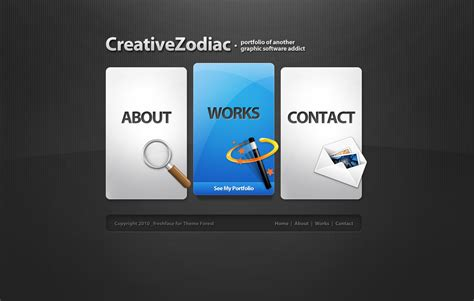 themes wordpress creative free creative zodiac portfolio blog wordpress theme by