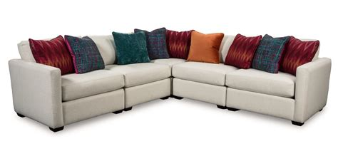 five piece sectional sofa five piece corner sectional sofa with toss pillows by