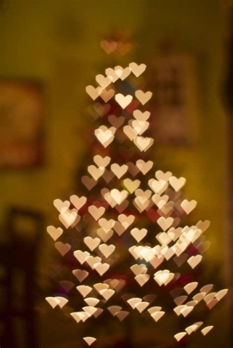 bokeh bokeh hearts chrismas tree christmas christmas