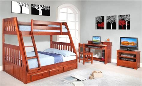 New Kids Wood Twin Over Full Bunk Bed Bedroom Furniture Bunk Bed Stand