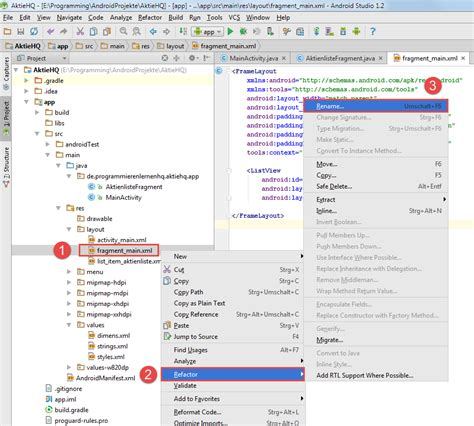 android studio refactoring tutorial android tutorial refactoring und logging in android studio