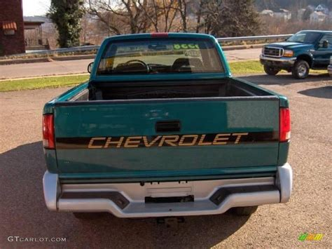 1995 bright teal metallic chevrolet s10 ls extended cab