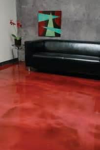 Red Floor Paint Metalic Floors Decorative Concrete Coatings Decorative
