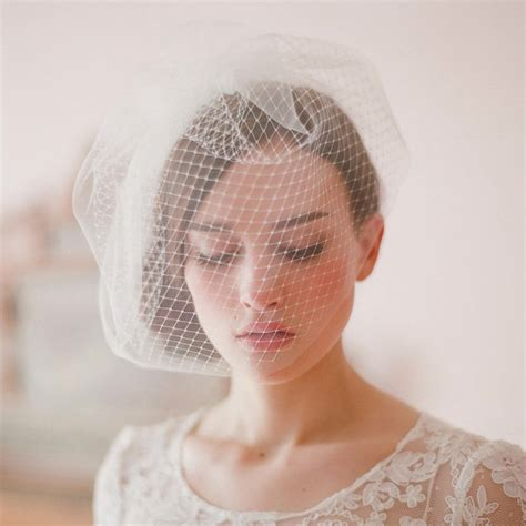 Wedding Hair Accessories With Netting by Wedding Bridal Ivory White Netting Net Birdcage Hair