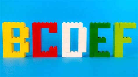 lego letter tutorial how to make lego alphabet complete 10664 lego bricks