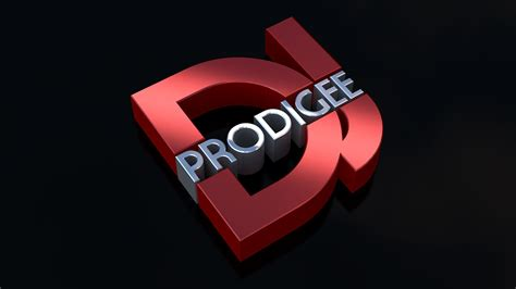 design a dj logo 3d logo design dj prodigee lucki media