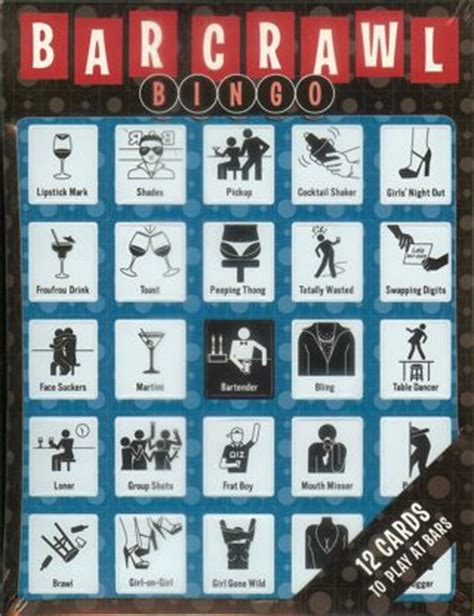barcrawl card template free bar crawl bingo more than just