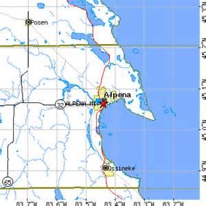 Alpena Michigan Map by Alpena Michigan Mi Population Data Races Housing