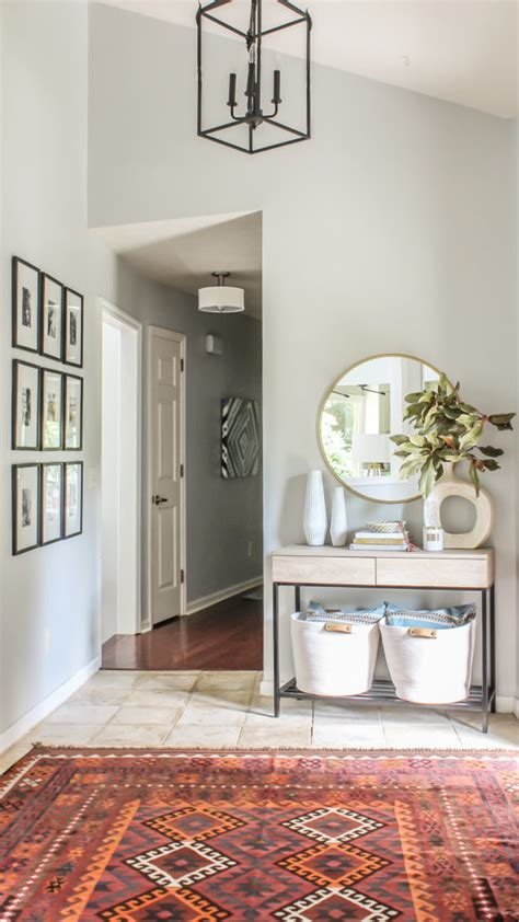 modern farmhouse meets boho foyer makeover budget