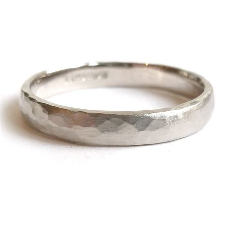 Wedding Ring Makers Uk by White Gold 3mm Hammered Ring Gpr03