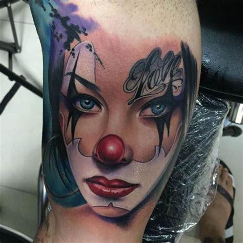 clown sleeve tattoo designs 30 terrifying clown designs amazing ideas