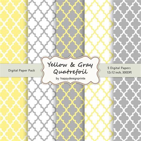 grey moroccan pattern yellow gray quatrefoil moroccan tiles pattern wallpaper
