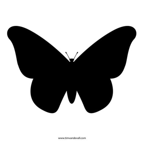 free butterfly stencil monarch butterfly outline and