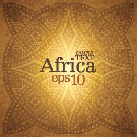 african pattern psd african style elements background vector set 05 over