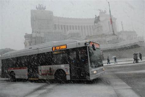 uffici atac roma neve a roma trasporti pubblici il piano neve atac
