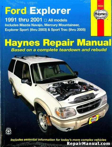 auto repair manual online 2001 ford econoline e250 on board diagnostic system ford explorer mazda navajo mercury mountaineer automotive repair manual 1991 2001 haynes