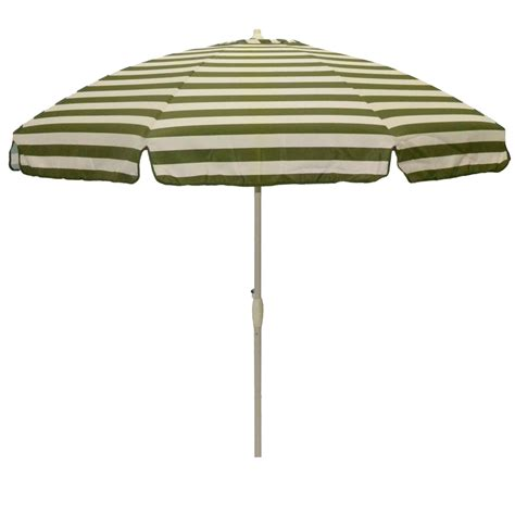 Striped Patio Umbrella Garden Oasis 8 5ft Green Striped Patio Umbrella