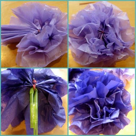 How To Make Crinkle Paper Flowers - how to make a dress up wedding bouquet