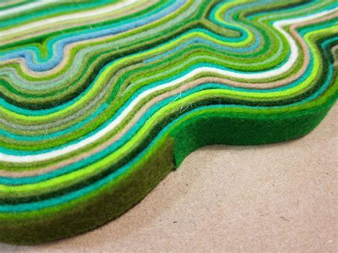 make felt rug picture of diy rug made of felt scraps