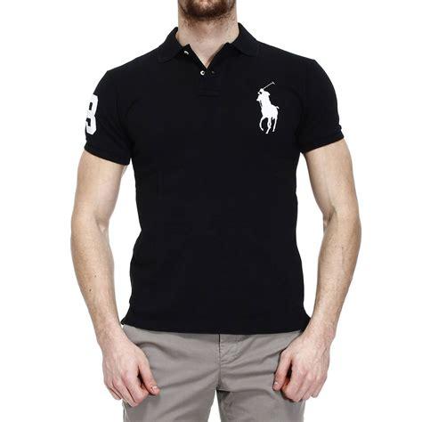 Black Blouse Oversized Kemeja Polos Diskon lyst polo ralph t shirt polo half sleeve big pony slim fit in black for
