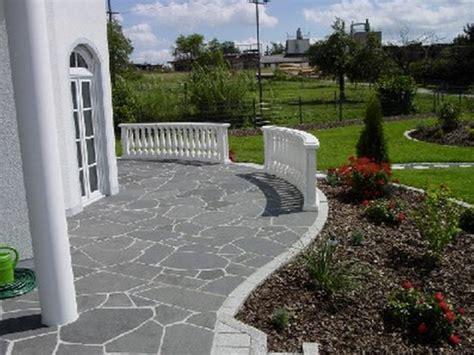 terrasse rustikal terrasse mit basalt polygonalplatten