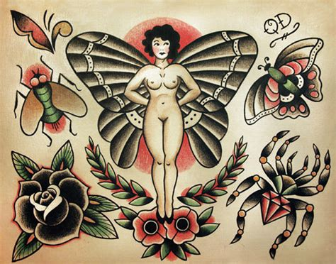 items similar to insect and bugs traditional tattoo