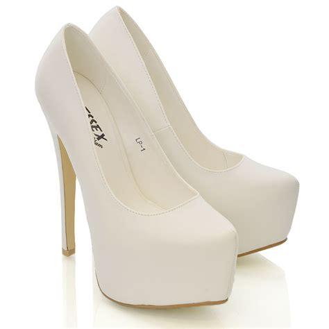 womens white high heels new womens concealed platform stiletto high heels