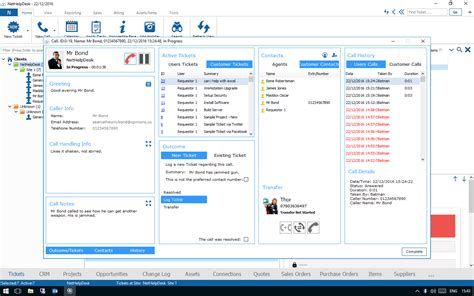 100 service desk software features telephone system