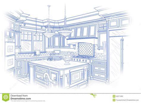 Living Room Layout Ideas blueprint custom kitchen design drawing on white stock