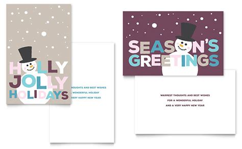 greeting card layout templates jolly holidays greeting card template design