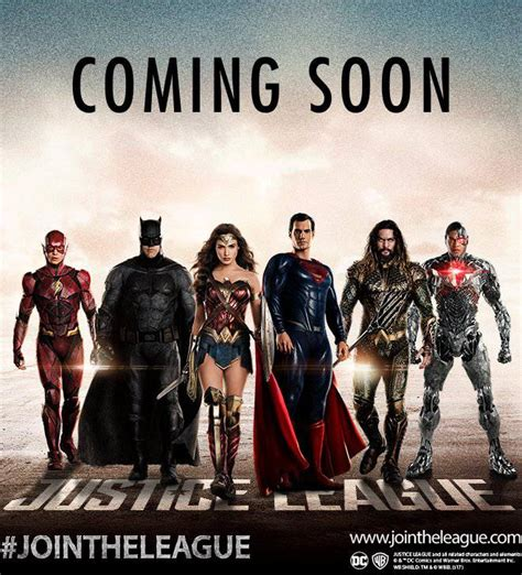 justice league film roster new justice league poster brings back superman