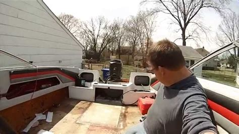 boat gas tank cleaning boat restoration pt 4 sealing in the gas tank youtube