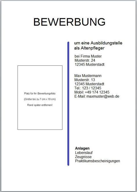 Anlagen Im Anschreiben Oder Lebenslauf Das Deckblatt F 252 R Die Bewerbungsunterlagen Www Kompass Ins Berufsleben De