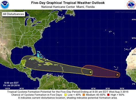 us weather map hurricane two tropical waves catching eye of national hurricane