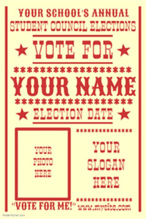 vote for me posters templates caign poster templates postermywall