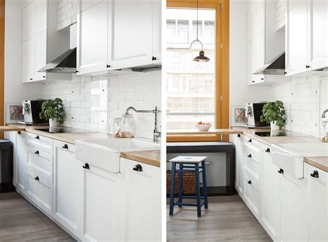 picture of the kitchen cabinets are white ones with a mid
