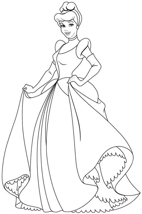 Free Coloring Book Pages for free cinderella coloring pages 63 on free