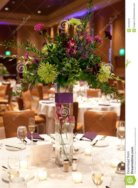 event table centerpieces banquet table setting stock image image of event tables 16123219