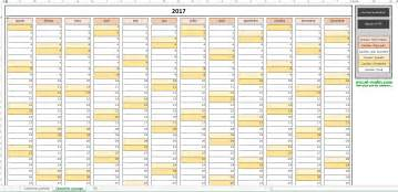 Calendrier Annuel Calendrier Annuel 2017 Pour Excel Excel Malin