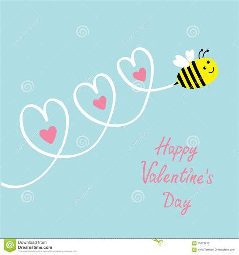 happy valentines day baby happy valentines day card flying bee three