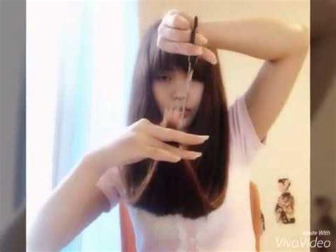 tutorial potong rambut emo hair tutorial cara memotong rambut sendiri youtube