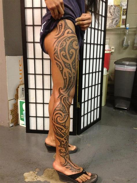full leg tribal tattoos polynesian tribal leg tattoos and other arts