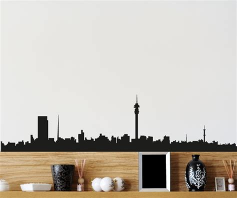 Window Decals Johannesburg by Johannesburg Skyline Vinyl Wall Decal Or Car Sticker