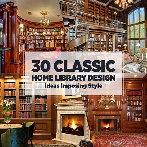 thirty classic home library style ideas imposing design
