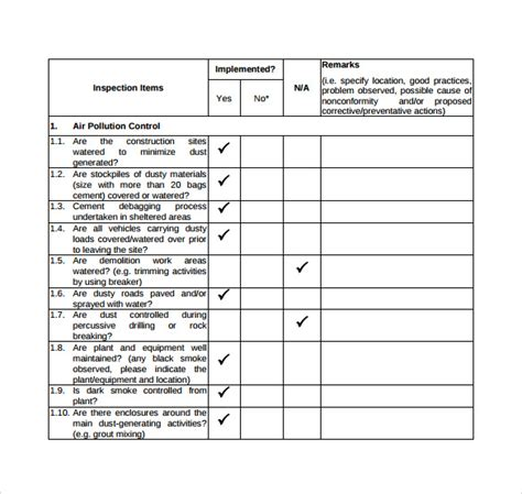 sle inspection checklist 14 documents in pdf word