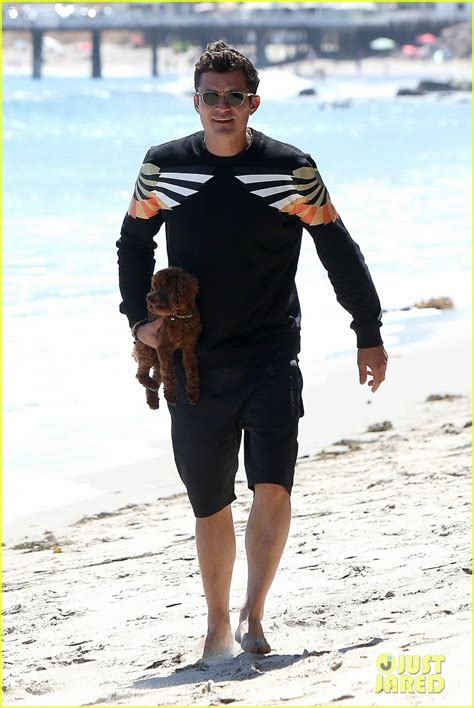 orlando bloom puppy orlando bloom almost loses his cute puppy at the beach