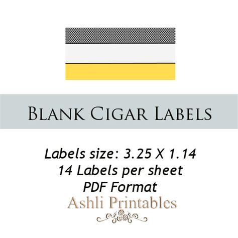 printable cigar label template cigar labels ashlisoapblog