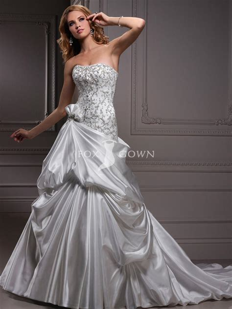 beaded bodice scoop neckline wedding dress with beaded bodice sang maestro