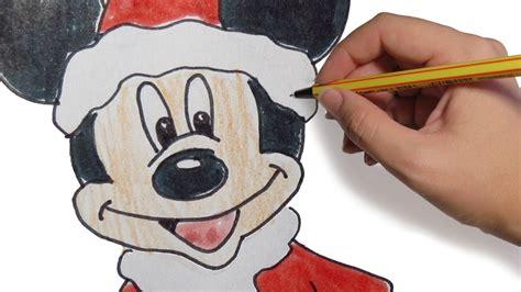 dibujos de navidad paso a paso dibujos de navidad de mickey mouse paso a paso facil a color para ni 241 os