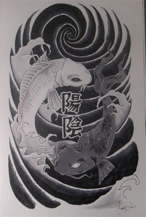 yin yang koi fish tattoo yin yang tattoos page 67